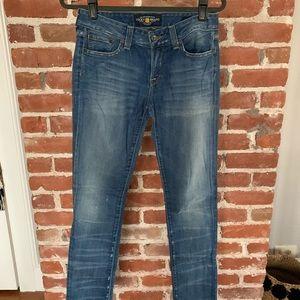 Lucky Brand Lola skinny jeans 4 27 straight leg